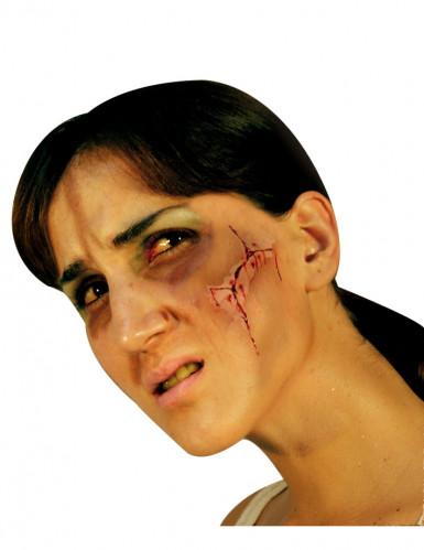 Fausse cicatrice visage adulte Halloween