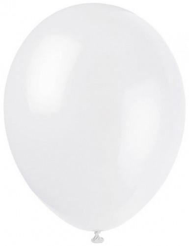 12 globos de color blanco de 28 cm