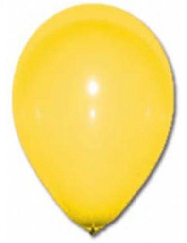 12 globos de color amarillo de 28 cm