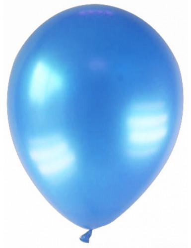 12 globos de color azul metalizado