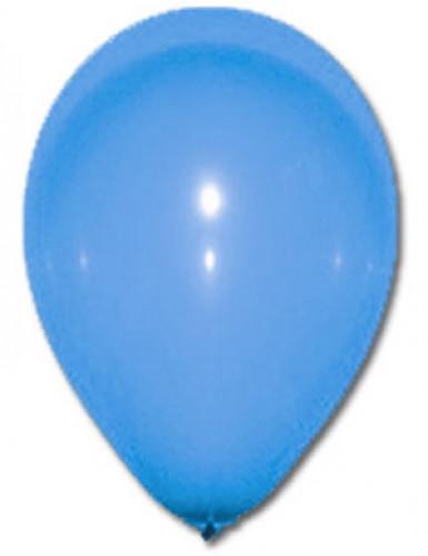 100 globos de color azul 27 cm