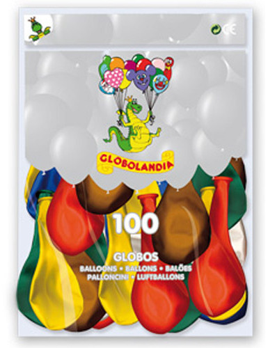100 globos colores matalizados 29 cm