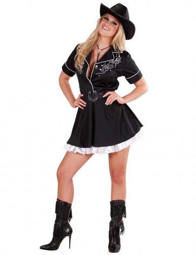 Déguisement cowgirl noir femme