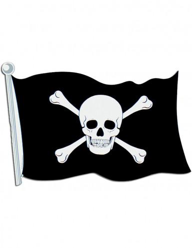 Décoration murale drapeau de pirate