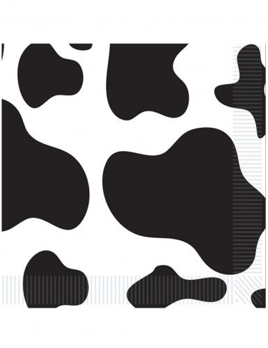 16 serviettes en papier peau de vache 33 x 33 cm deguise toi achat de decoration animation. Black Bedroom Furniture Sets. Home Design Ideas