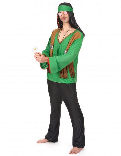 Déguisement hippie homme vert-1