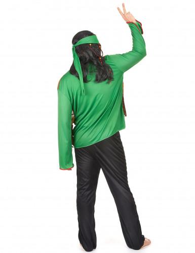 Déguisement hippie homme vert-2