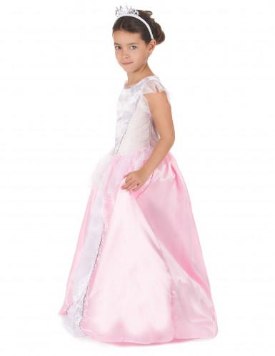Déguisement princesse fille rose et blanc-1