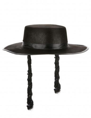 Chapeau rabbi adulte