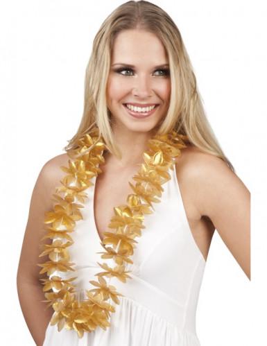 Oferta: Collar de flores doradas