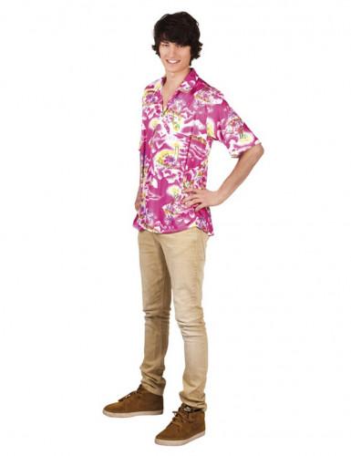 Rosa Hawaii-Hemd für Erwachsene Einheitsgröße 4MSJT01