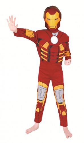Geniales Iron Man™-Kostüm für Kinder 7-8 Jahre 4NLBE323
