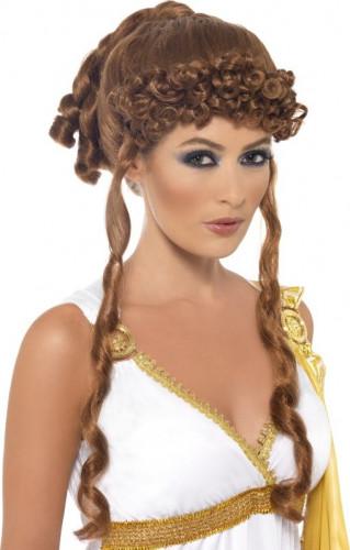 Perruque auburn de déesse grecque femme