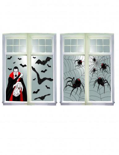 d coration fen tre th me halloween deguise toi achat de decoration animation. Black Bedroom Furniture Sets. Home Design Ideas