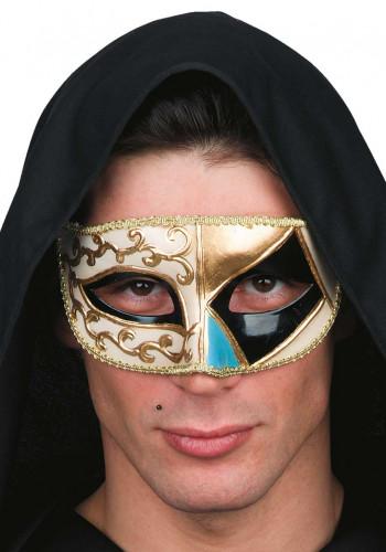 Maschera veneziana beige e dorata uomo