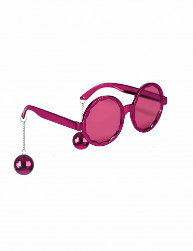 Lunettes roses disco adulte