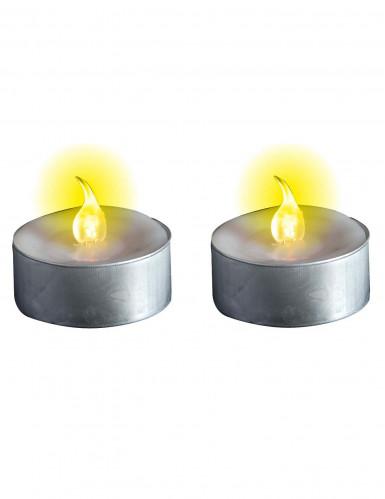 2 bougies chauffe plat lumineuses led achat de decoration animation sur vegaoopro. Black Bedroom Furniture Sets. Home Design Ideas
