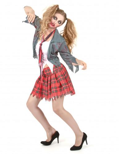 Déguisement zombie écolière femme Halloween -1