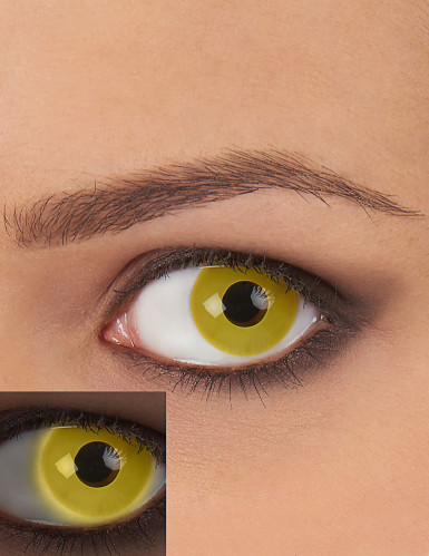 Lentilles de contact UV jaune adulte