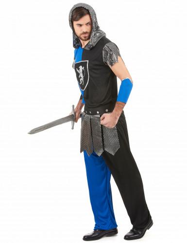 Déguisement chevalier bleu homme-1