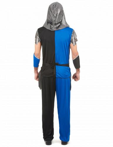 Déguisement chevalier bleu homme-2