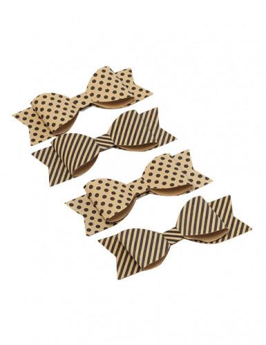 4 n uds papillon papier kraft deguise toi achat de decoration animation. Black Bedroom Furniture Sets. Home Design Ideas