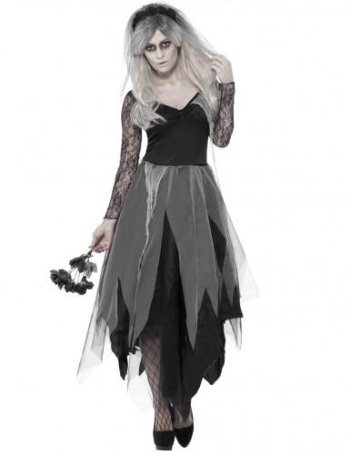 Déguisement fantôme mariée noire femme Halloween