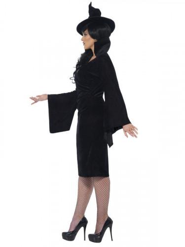 Déguisement sorcière noire femme Halloween-2
