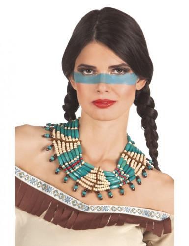 Collier indien bleu femme Taille Unique