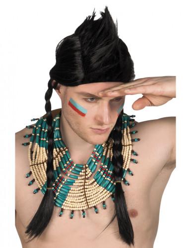 Collier indien bleu homme Taille Unique