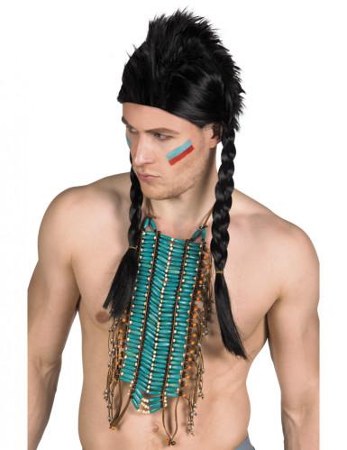 Collier indien long bleu adulte Taille Unique
