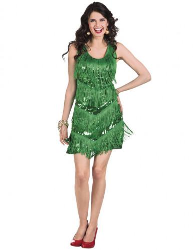 Déguisement charleston années 20 vert femme