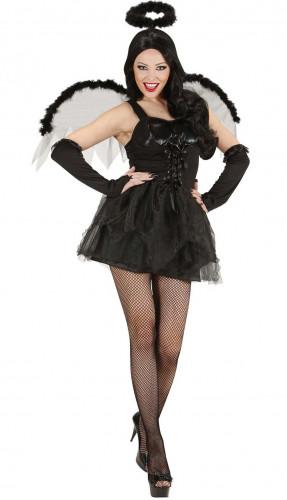 d guisement ange noir femme halloween deguise toi achat. Black Bedroom Furniture Sets. Home Design Ideas