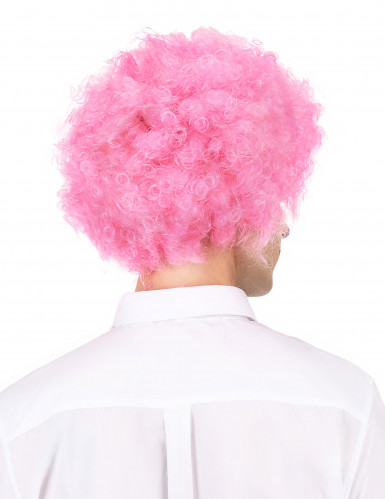 Perruque afro/ clown rose confort adulte-1
