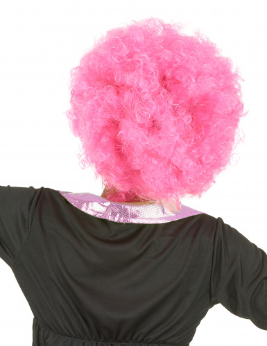 Perruque afro/ clown rose confort adulte-2