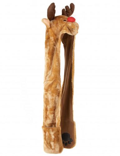 Bonnet avec écharpe renne adulte Noël-1