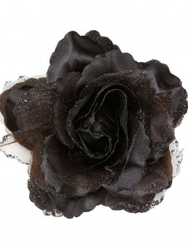 Rose noire pour cheveux femme