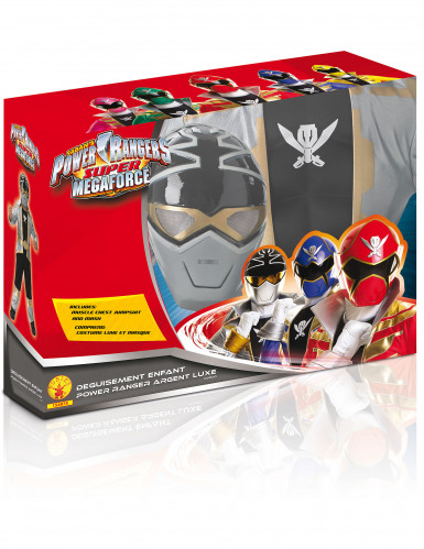 Déguisement 3D EVA Power Rangers™ Silver super mega force enfant-1