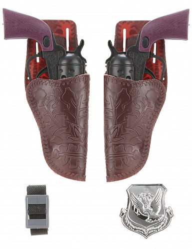 Set de 2 pistolets cow boy en plastique