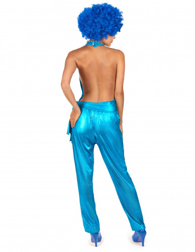 Déguisement combinaison sexy disco bleue-2