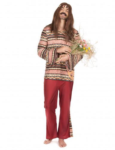 Déguisement hippie bordeaux homme