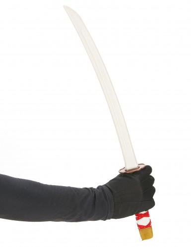 Sabre de Ninja en plastique rouge enfant-1