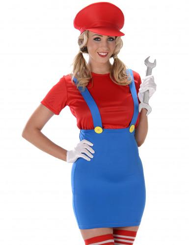 Déguisement Plombier rouge femme-1