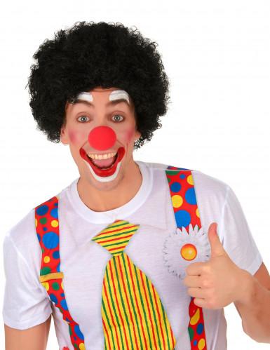 Perruque afro/clown noire standard adulte-1