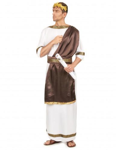 Déguisement de couple romain marron adulte-1