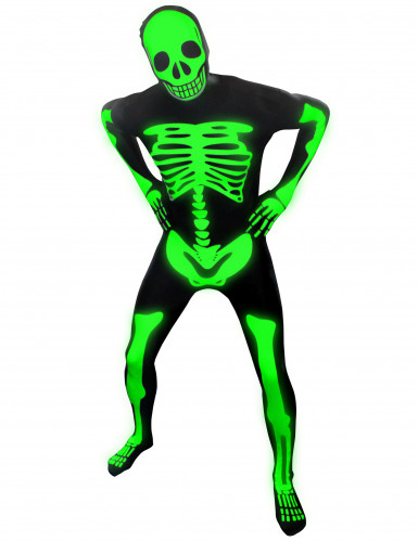 Déguisement squelette phosphorescent adulte Morphsuits™ Halloween