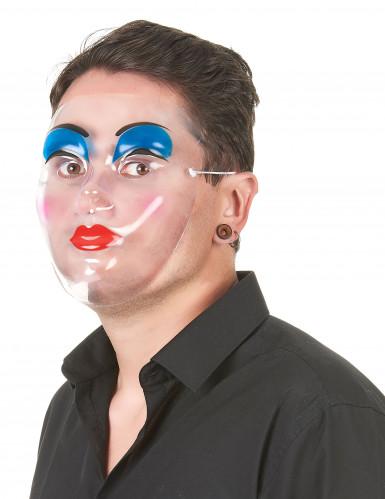 Masque transparent maquillage femme-1