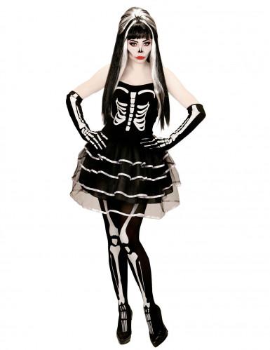 Déguisement squelette tutu bouffant femme Halloween