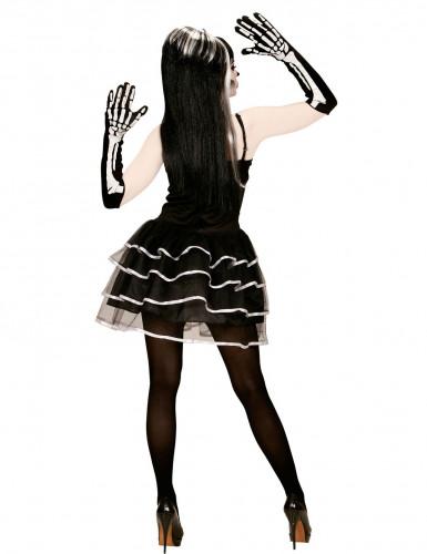 Déguisement squelette tutu bouffant femme Halloween-1