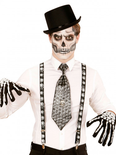 Bretelles toiles d 39 araign es adulte halloween deguise toi achat de accessoires - Maquillage halloween toile d araignee ...
